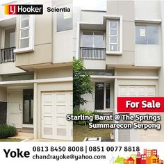 FOR SALE: Starling Barat @ The Springs, Summarecon Serpong