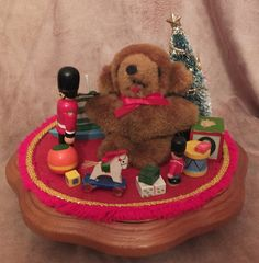 Schmid Christmas Wooden Toys & Teddy Bear by MoonbearConnections