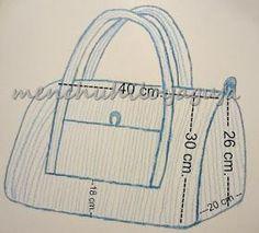 Patrones de Costura: BOLSO DE MATERNIDAD, Patrón gratis Sewing Tutorials, Sewing Projects, Star Coloring Pages, Diy Bags Patterns, Crochet Vest Pattern, Carry All Bag, Crochet Handbags, Toddler Learning, Denim Bag