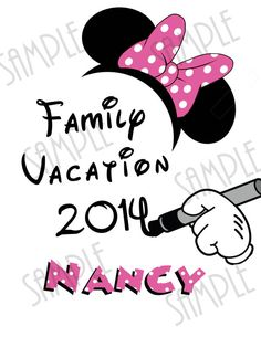T-shirt Disney Family Vacation Iron On by Fantasyprintables
