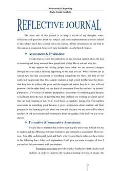 write a reflection paper  academic  reflection paper self   example reflective essay templatesmagiskco assessment  reporting  luca conde cambelo  the main aim of this journal is to keep a record of  my