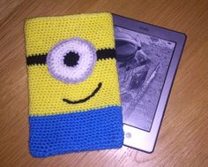 Despicable+Me+MINION+Crochet+Kindle+Cover+by+CraftyLittleBadger,+£10.00