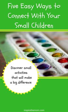 Here are five easy ways to connect with your small kids! #easy #ways #to #connect #with #your #small #kids #young #toddlers #preschool #kindergarten #parenting #activities #crafts #cooking #relationship #building Practical Parenting, Gentle Parenting, Parenting Advice, Toddler Fun, Toddler Activities, Kids Fun, Raising Godly Children, Sibling Relationships, Attachment Parenting