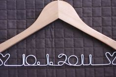 RUSH - Custom Wedding Hanger. $16.00, via Etsy.