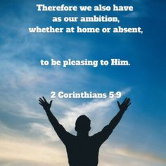 Be pleasing to God