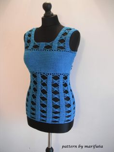 How to crochet easy summer top by marifu6a free pattern video tutorial