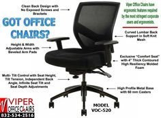 Mesh Office Chair The Voc 520 Takes Comfort To A Whole New Level At Rock Bottom Prices Keeping Workers Comfortable While They Wo