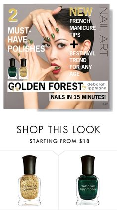 """""""Golden Forest in Fall"""" by downtownblues ❤ liked on Polyvore featuring beauty and Deborah Lippmann"""