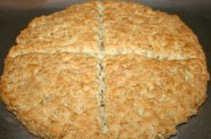 St. Brigid's Oaten Bread from Ireland - try with 3/4 whole wheat flour and 1/4 spelt flour