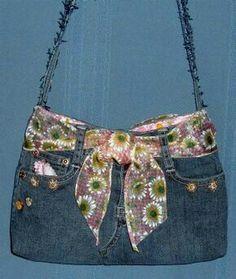 Jeans Purse Using Waistband Belt Loops