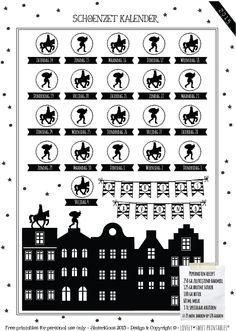 FREE DOWNLOAD 2015 Schoenzet kalender Sweet Table Shop gratis te downloaden ! Kirigami, Diy For Kids, Crafts For Kids, Christmas Holidays, Christmas Crafts, Stencils, Saint Nicolas, Silhouette Curio, Holidays Around The World