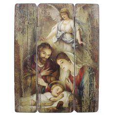 Mary and Joseph watching the Baby Jesus sleep ... something that probably happened so often.