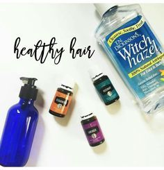 What you need: 2 oz. Spray bottle or pump, witch hazel, yl cedarwood, yl lavender, yl rosemary. Add 10 drops of each oil and top with witch hazel. After a shower, pump a little into your hand and massage into hair focusing on the scalp. Take remaining product and massage into the ends of your hair. All 4 of these ingredients are good for maintaining a healthy scalp + hair growth!