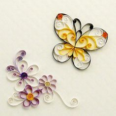 Quilling Flowers PDF Pattern / Tutorial by PaperZenShop on Etsy Arte Quilling, Quilling Cake, Quilling Butterfly, Paper Quilling Flowers, Paper Quilling Patterns, Quilling Paper Craft, Craft Patterns, Paper Crafts, Quiling Paper