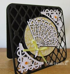 Blog tonic: Delicate Fan, Rococo die - card from RUTH