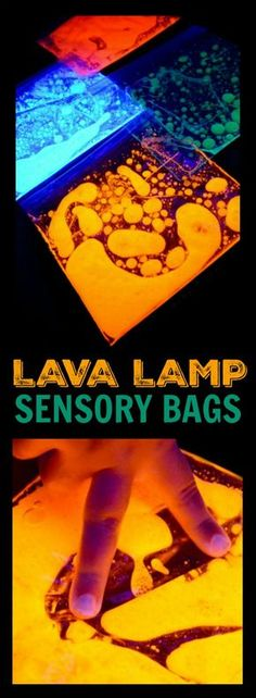 LAVA LAMP IN A BAG- squish it, feel it, be amazed!
