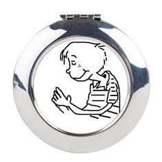 BOY PRAYER Round Compact Mirror this and other items with this same design you can find here http://www.cafepress.com/blamemyparents/9517236
