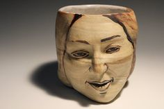 Planter Head Sculpture Face Pottery Goddess Art by AdrienArt, $70.00