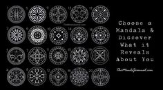 Okay, I want you to do a little exercise with me. Close your eyes, take a deep breath 3 times. Open your eyes and look over the graphic below. Choose which mandala speaks to you personally. Which one are you drawn to? Now scroll down and find out what it means… THis post original appeared …