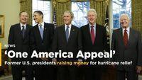 Former US presidents raising money for hurricane relief
