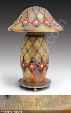 Gabriel Argy-Rousseau (1885-1953), Pâte de verre, Lamp.