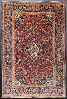 Antique Persian Kashan Rug 4'7 x 6'8 Superb Quality by Antieksman