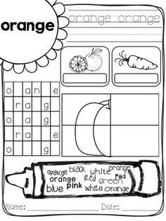Learning Colors Worksheets for Preschoolers Color Blue