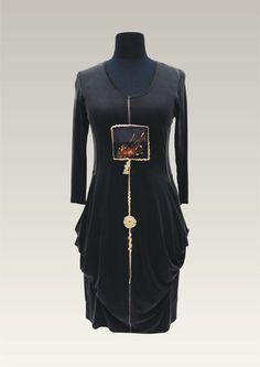 Silk Cupro Handpainted Dress by Elkay & Son by mlogwin on Etsy, $100.00