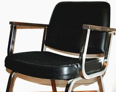 Vintage Mid Century Modern Eames era Office Armchair Retro Space age Lounge Chair Knoll style Furniture