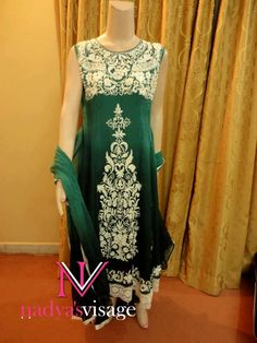 green dress