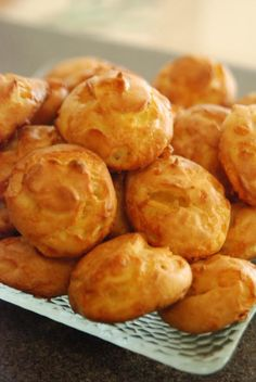 These pastry puffs make an easy and impressive appetizer, and go fabulously with an afternoon drink. One of the best things about gougères is that they can be made earlier in the day, and popped in the oven just before guests arrive.