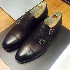 """incrocioshop: """"  Double Monk Santoni leather shoes """""""