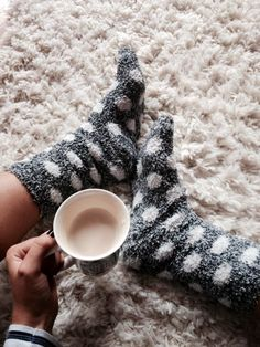 Tea and Fuzzy socks. Pinterest:@JORDANLANAI