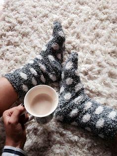 Tea and Fuzzy socks.