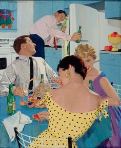 Mike Ludlow Ballantine beer ad, late 1950s.