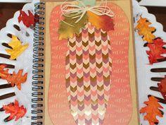 Fall Pumpkin Notebook Decorated Spiral Bound by BellaBoutique23