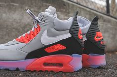 newest 2bd50 059d8 Nike Air Max 90 Sneakerboot Ice - Infrared   Kith Nyc