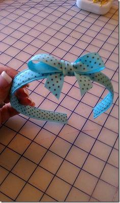 sewing ribbon headbands tutorial