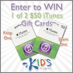 Mission Giveaway Kid's Academy Win iTunes Gift Cards - Madame Deals, Inc.