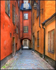 Medieval Street by Fred Coleman on (Stockholm, Sweden) Stockholm Old Town, Stockholm Sweden, Kingdom Of Sweden, Europe Street, Architecture Old, Most Beautiful Cities, Travel Aesthetic, Street Photo, Medieval
