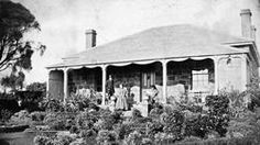 Description Of Content: People on the verandah of Corney 's homestead. There is an elaborate garden. Acquisition Information: Copied from Dick Paterson, 1986 Acknowledgement: The Biggest Family Album of Australia, Museum Victoria Place & Date Depicted:Portland, Victoria, Australia, circa 1870