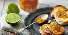 Liven up winter with the sunny taste of lime in this lick-your-lips marmalade, spread on hot buttered toast. Lime Recipes, Fruit Recipes, Sweet Recipes, Cooking Recipes, Healthy Recipes, Cooking Tips, Healthy Food, Recipies, Healthy Eating