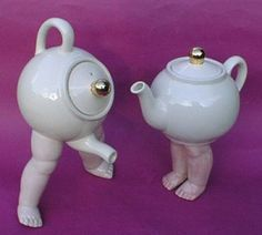 Be careful – this little teapot might just walk off- they already grew the legs!