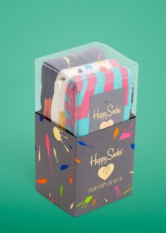 "Happy Socks Manish collection. Some ""Happy Socks"" for the man in your life #packaging PD"