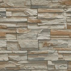 "Natural Elements 33' x 20.5"" Flat Stone Wallpaper"