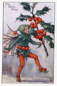 The HOLLY Fairy ~ Cicely Mary Barker ~