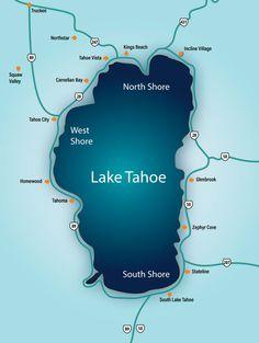 Kings Beach Lake Tahoe, Lake Tahoe Map, South Lake Tahoe, Tahoe Vista, Zephyr Cove, Incline Village, Exotic Places, Road Trippin, House In The Woods
