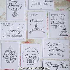Handwritten Christmas cards Christmas cards - Home Page Christmas Tumblr, Christmas Ad, Diy Christmas Cards, Xmas Cards, Diy Cards, Christmas Crafts, Christmas Ornaments, Christmas Calligraphy Cards, Diy Birthday