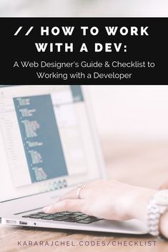 How to work with a Dev: A Web Designer's Guide & Checklist to Working with a Developer. Everything a web designer needs to know to work successfully with a web developer plus checklists to make sure your project goes smoothly. News Web Design, Web Design Trends, Business Design, Business Tips, Website Layout, Web Development, Personal Development, Design Tutorials, Kara