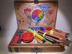 Boho Hippy Colorful Teen Journaling Draw Manga by CapricornsArtBox